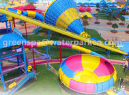 Family Members Big Amusement Water Park Equipments Durable Customised Color