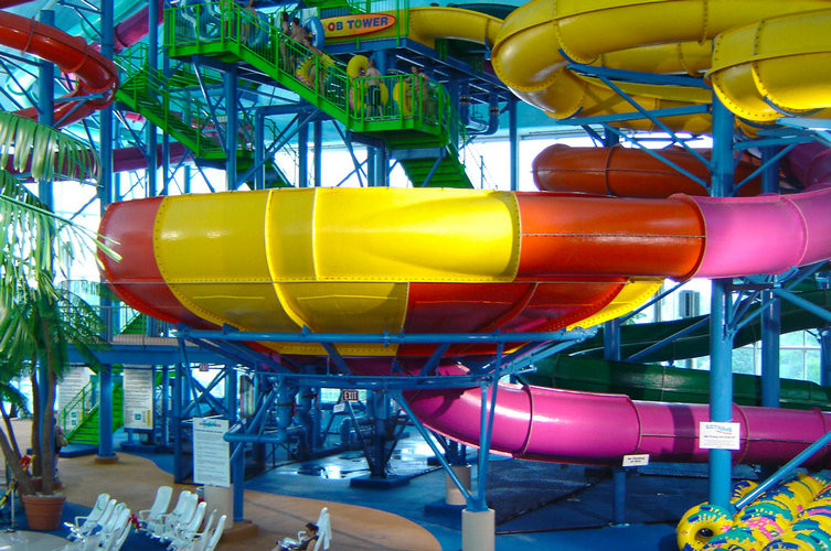 Funny Water Playground Equipment Super Bowl Water Slide For 2 People Water Sport Games