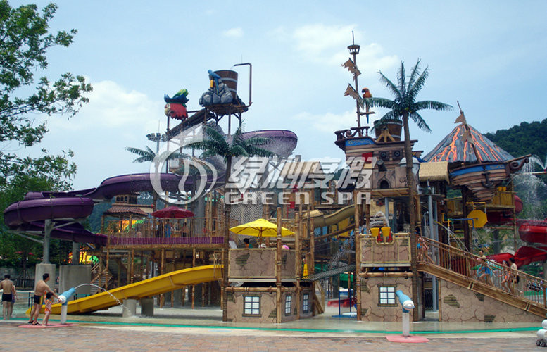 Fiberglass Water House Aqua Playground Equipment For Children Water Theme Park