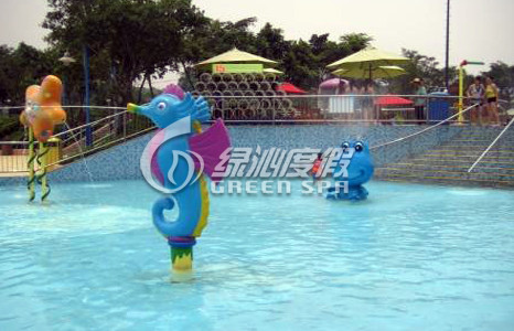 Commercial Aqua Park Equipment See Horse Water Spray with Customized color and size