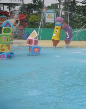 Children Amusement Park Building Block Water Spray Aqua Park Equipment for Summer Entertainment