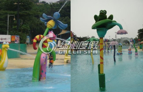 Funny Park Play Equipment Lotus / Frog Spray for Water Pool and Water Playground